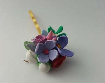 Flower hair pin for flower girls
