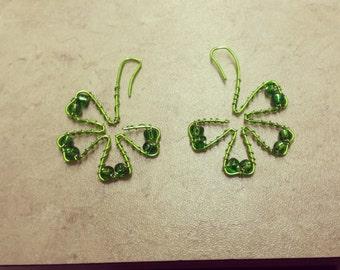 St patrick day earrings
