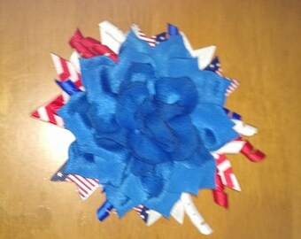 "5-6"" Patriotic 4th of July Hair bow"