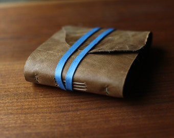 "Leather Wrap Journal 4.5""x5.5"" Colorblock"