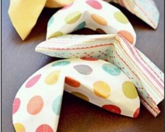 Fortune cookies in paper (set of 6)