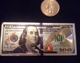 Foil Hundred Dollar Bill Magnet
