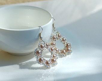 Handmade circle earrings