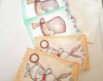 Alice in wonderland themed cards/invites