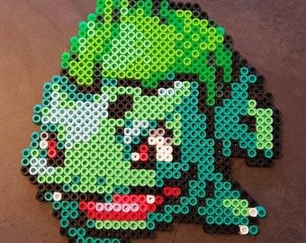 Bulbasaur from Pokemon done in Perler beads