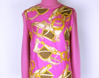 80's-90's vintage Celine Pink wool&silk knit tops