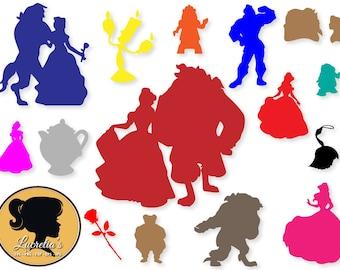 Beauty and the Beast SVG, Beauty and the Beast Silhouette,  Disney Princess , Svg, Eps, Jpg, Dxf, Png