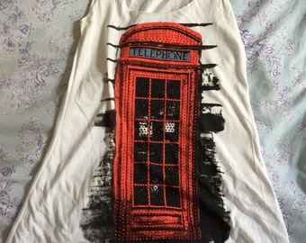 UK Red Telephone Box Tank
