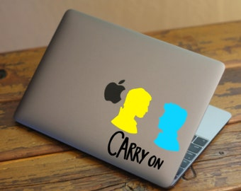 FREE SHIPPING! - Carry On Decal | 2 Styles Available! | Simon & Baz inspired by Rainbow Rowell