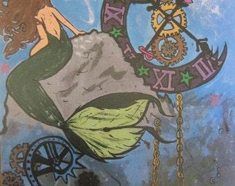 Steampunk Mermaid painting