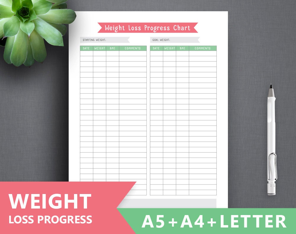 weight loss planner printable  weight loss tracker