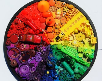 Magpie Colour Wheel: Recycled objects 003