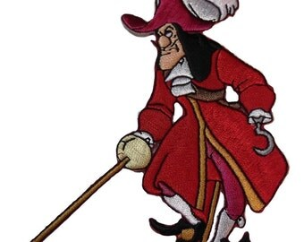 Peter Pan Captain Hook Embroidered Patch