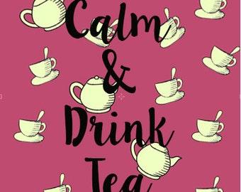 A5 Keep calm & drink tea planner divider
