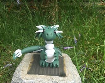 clay dragon- polymer clay dragon- handmade - dragon sculpture- dragon ornament