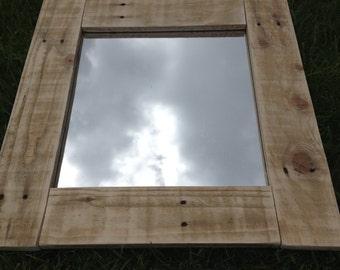 Pallet  / Distressed / Rustic Wood Mirror