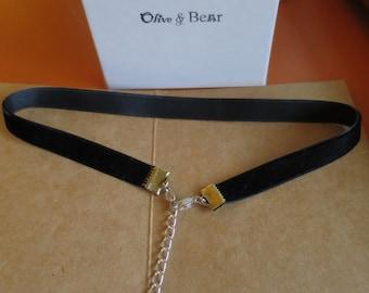Velvet Choker with back detail- Hanging Bow