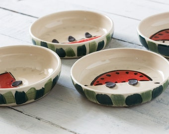Ceramic bowls, set of four, fruit bowls, small bowls, housewarming gift, home decor, kitchen and dining, serving bowls, summer decor