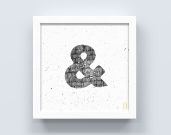 Ampersand Sketch, &, Type Poster, Typography Art, Home Decor, Word Decor