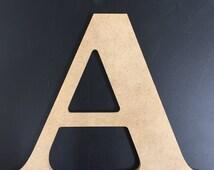 """Unfinished Wood Letters - 1/4"""" MDF - News 701 BT Font"""