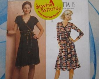 Butterick 5206 Mock Wrap Dress Sewing Pattern 16-24