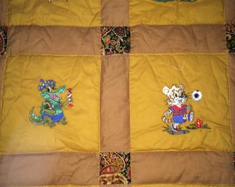 Cozy hand quilted throw