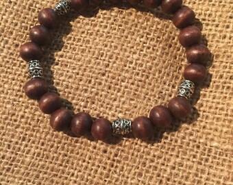 Wooden bracelet mens wood