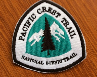 Patch badge Pacific Crest Trail - PCT - Hiking and Equestrian trail - California - Oregon - Washington - British Columbia