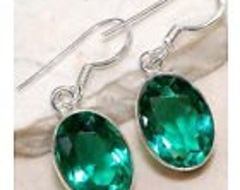 8 ct Apatite earrings .925 Sterling Silver