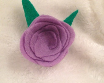 Purple Rose Hair Accessory