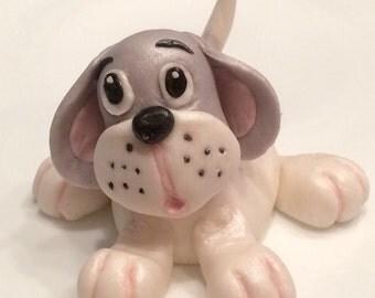 Fondant Puppy Cake Topper