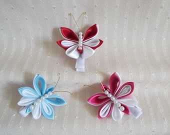 Butterfly hair clip set of two