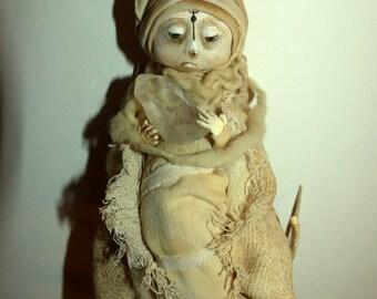 Totem - Rojat Crystal - papier maché Sculpture