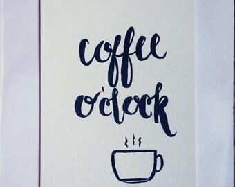 Coffee O'clock Canvas