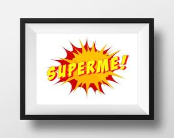 SUPERME,Superhero kids decor,superhero room decor,boys room decor,superhero nursery,boys superhero decor,superhero wall art,nursery decor