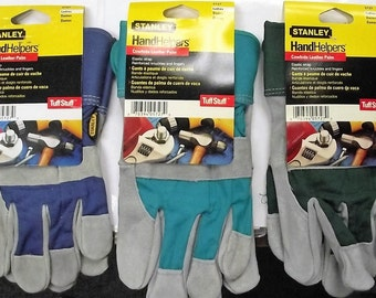 Stanley 5727 Ladies Cowhide Leather Palm Gloves Tuff Stuff One Pair