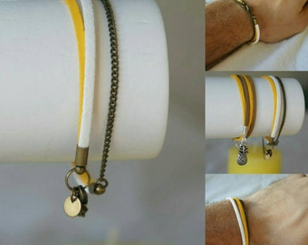 Cedric, bracelet for urban men and elegant made in Bordeaux and handmade