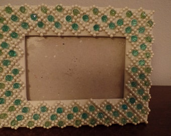 Pearls and Bead Embellished Picture Frame