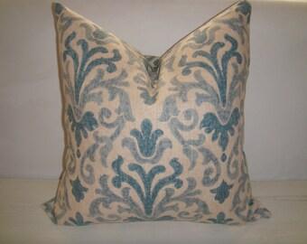 Blue damask pillows Etsy