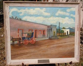 Original Art Titled SIESTA Sabinos Hildalgo, Mexico by Artist Philip F. Spaniol