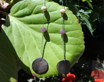 Plum chic long earrings