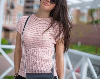 Summer knitted top hand made