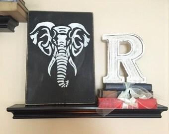 Elephant, Wood Sign, Shabby Chic, Wall Decor