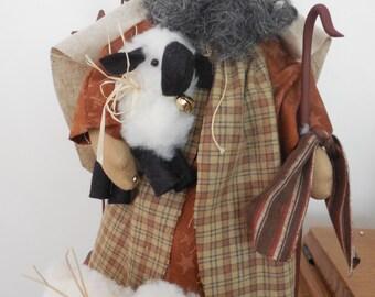 Hollyhocks and Ivy-- Nativity-- Shepherd