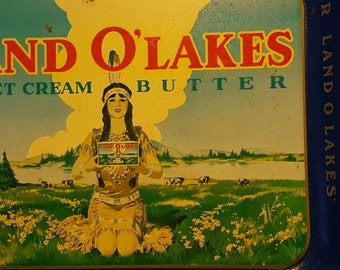 Vintage Land O Lakes Advertising Tray