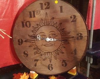 Rustic sun clock