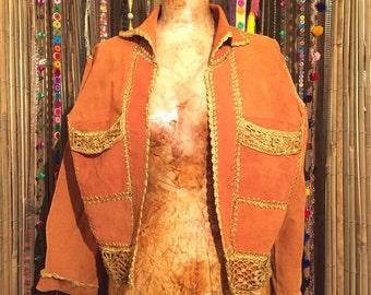 Leather & Crochet Jacket