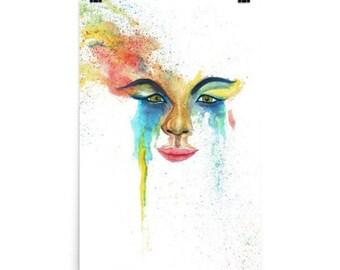 Watercolour Face - Print