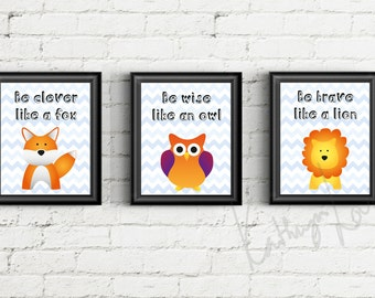 "Poster set for Playroom or nursey 8""x10"" Printable, Instant download"
