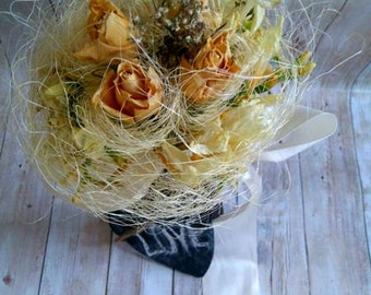 Elegant dry flowers Bride's Bouquet!